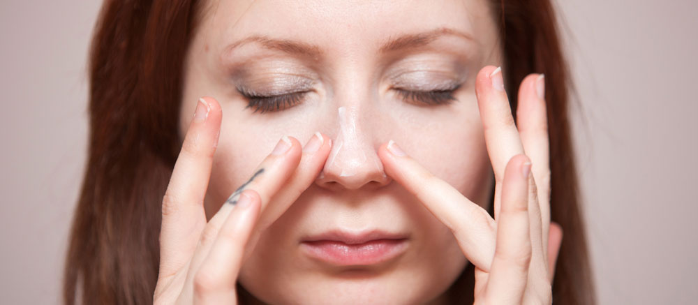 how to get rid of dry skin under nose
